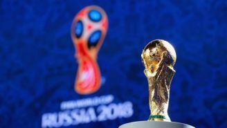 La Copa del Mundo junto a la imagen de Rusia 2018