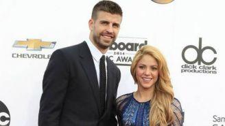 Piqué y Shakira en una alfombra roja