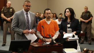 Larry Nassar, durante audiencia para conocer su sentencia