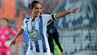 Mónica Ocampo celebra en Final contra Chivas