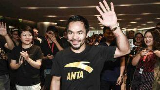 Manny Pacquiao, durante su llegada a un evento