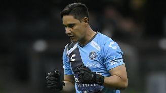 Moisés Muñoz, durante un partido del Puebla