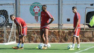 Selección de Marruecos, durante un entrenamiento