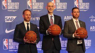 Adam Silver, comisionado de NBA y Alfredo Castillo, de Conade hicieron el anuncio