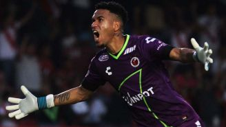 Gallese celebra un gol con Veracruz