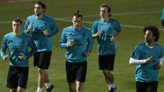 Jugadores del Madrid entrenan en Abu Dhabi