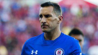 Christian Giménez, después de un partido de Cruz Azul