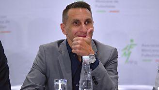 Chaco Giménez en una conferencia de prensa