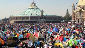 Peregrinos inundan la Basílica de Guadalupe
