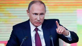 Putin, durante una conferencia de prensa