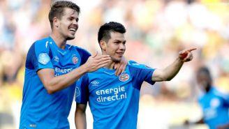 Locadia y Lozano festejan gol con el PSV