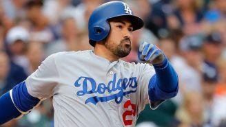 González conecta un batazo con los Dodgers