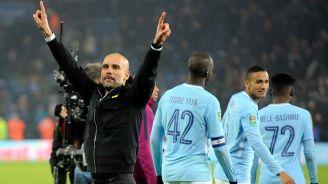 Guardiola y el City festejan un triunfo en la Copa de la Liga inglesa