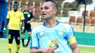 Feraud, durante un partido con el Macará