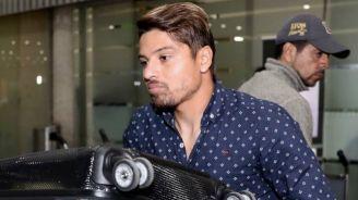 Sebastián Palacios en su llegada a la CDMX