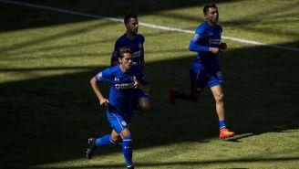 Jugadores de Cruz Azul en el juego de pretemporada contra Toluca