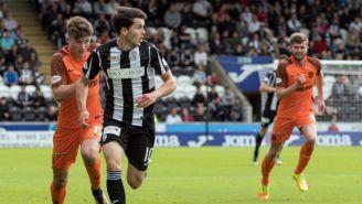 Smith del St. Mirren en el partido contra el Dundee United