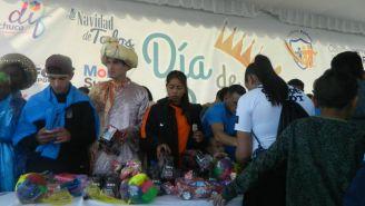 Pachuca participó en la entrega de juguetes a niños