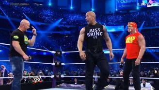Stone Cold, The Rock y Hulk Hogan comparten el ring en WWE