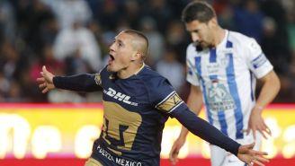 Nicolás Castillo celebra doblete frente a Pachuca