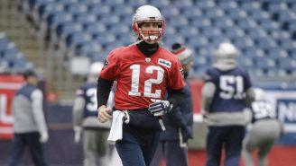 Brady, durante un entrenamiento de Patriots