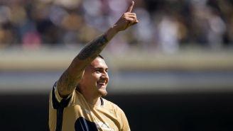 Nicolás Castillo celebra gol contra Atlas