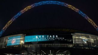 Así luce Wembley en apoyo a los Jaguars