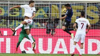 Vecino remata y consigue el gol del empate frente a la Roma