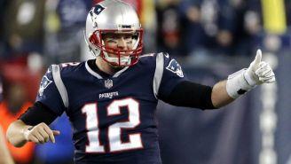 Tom Brady festejando durante el partido de Patriots vs Jaguars