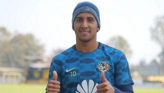 Cecilio Domínguez, feliz tras una práctica con América en Coapa
