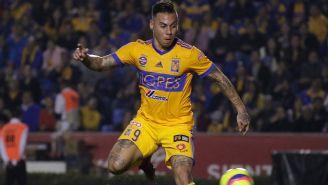 Vargas, durante el primer gol de Tigres
