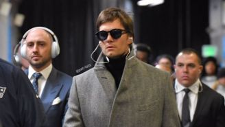 Tom Brady, a su llegada al U.S. Bank Stadium