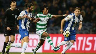 Herrera persigue a Gelson Martins en la Semifinal de la Copa portuguesa