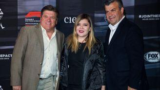 Miguel Herrera y su hija en la fiesta de la F1