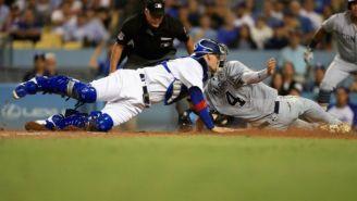 Catcher de Dodgers logra cortar carrera de jugador de Padres en la MLB
