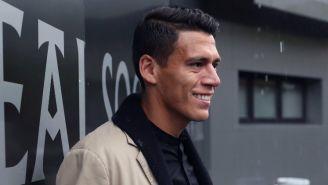 Héctor Moreno luce con orgullo los colores de la Real Sociedad