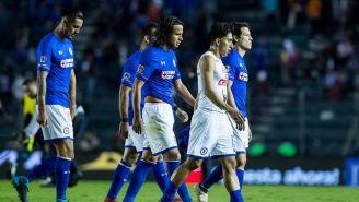 Jugadores de Cruz Azul se lamentan tras el juego contra Necaxa