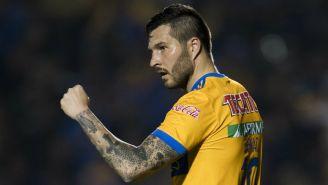 Gignac celebra un gol contra Pachuca