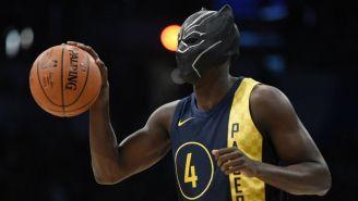 Victor Oladipo, de Indiana Pacers, con una máscara de 'Black Panther'