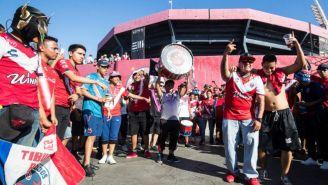 Seguidores del Veracruz previo al juego contra América