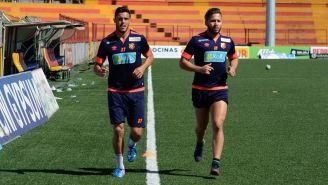 Luis Angel Landín durante un entrenamiento