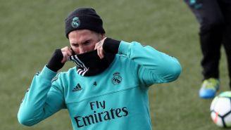 Sergio Ramos, en un entrenamiento del Real Madrid