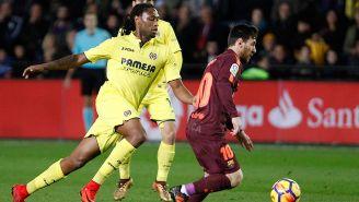 Rubén Semedo (izq.) tratando de detener a Messi