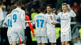 Toni Kroos celebra gol del Real Madrid
