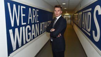 David Sharpe, presidente del Wigan Athletic, en una entrevista
