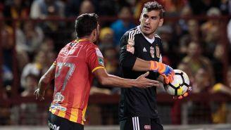 Nahuel Guzmán en el partido contra Herediano