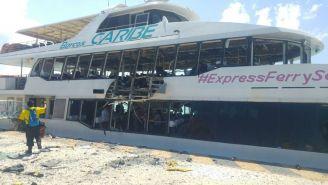 Ferry que explotó en Playa del Carmen