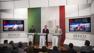 Enrique de la Madrid, Eduardo Sánchez Hernández y Alejandro Soberón en conferencia