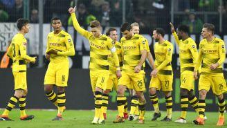 Borussia Dortmund festeja su triunfo frente al Atalanta