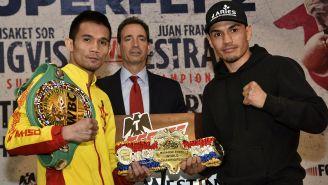 Gallo Estrada y Srisaket Sor Rungvisai en presentación de su pelea